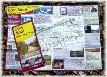Goss Moor Trail leaflet - by Graphic Words of Tavistock
