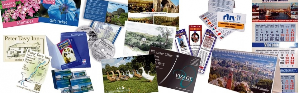 Special and promotional print - including postcards, presentation folders, calendars, CD print, information packs and membership cards from Graphic Words of Tavistock
