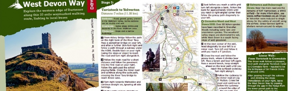 West Devon Way - walking trail guide designed by Graphic Words of Tavistock