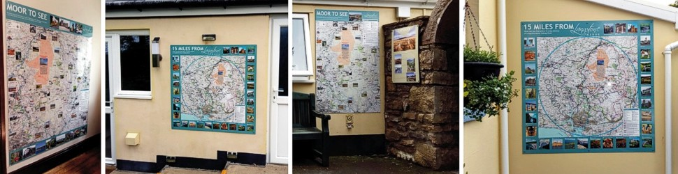 Wall mounted visitor maps at Langstone Manor