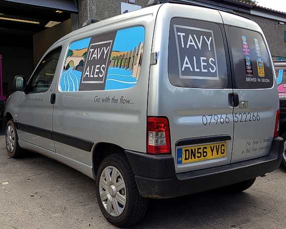 Van livery designed by Tavy Ales of Tavistock.