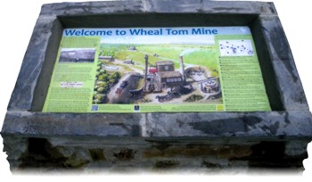 Wheal Tom interpretation board by Graphic Words of Tavistock