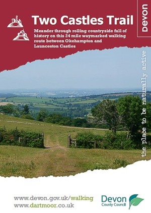 Two Castles Trail guide, designed by Graphic Words of Tavistock