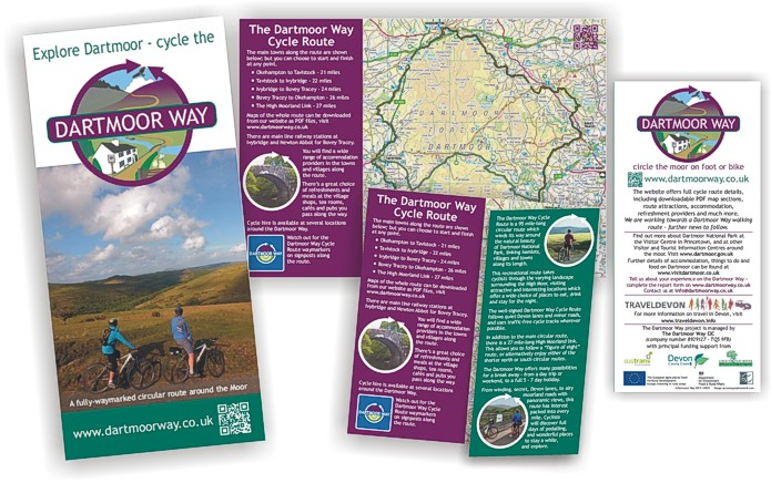 Cycle the Dartmoor Way - leaflet by Graphic Words of Tavistock