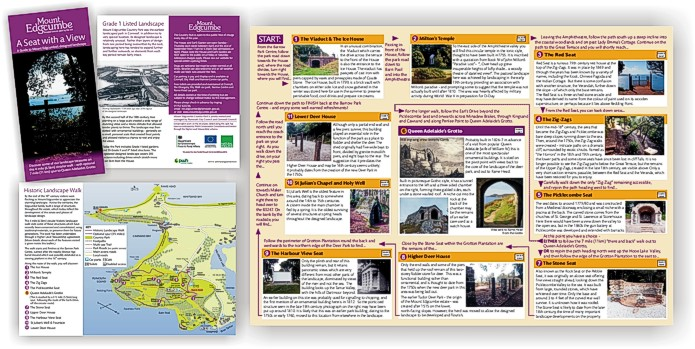 Leaflet for Mount Edgcumbe by Graphic Words of Tavistock