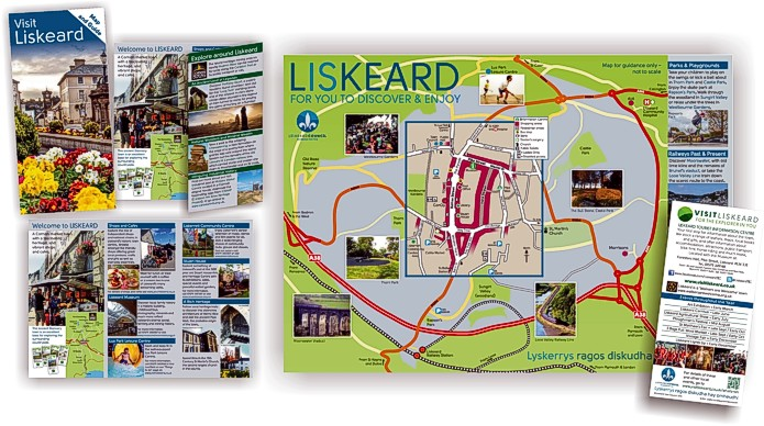 Visit Liskeard leaflet design and print by Graphic Words of Tavistock