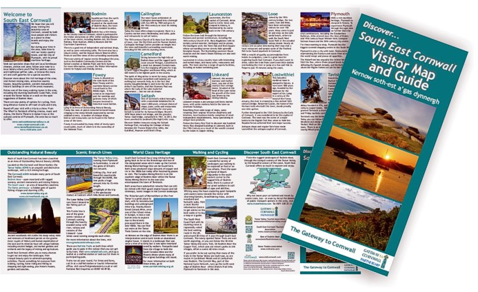 South East Cornwall Visitor Map & Guide - by Graphic Words of Tavistock