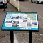 Interpretation panel by Graphic Words of Tavistock - at Mylor Bridge in Cornwall.