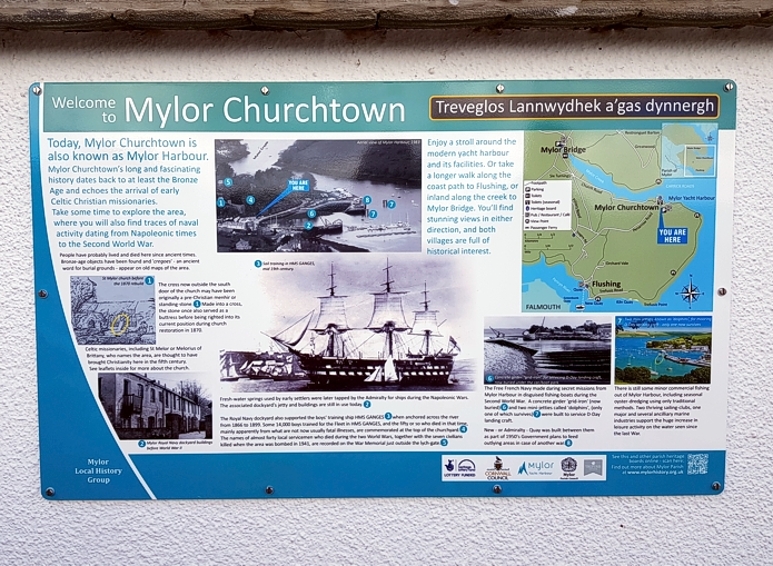 Mylor Churchtown (Harbour) interpretation board - from Graphic Words of Tavistock