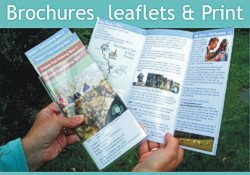 Brochures, leaflets, flyers, books, booklets and promotional print - click here for details