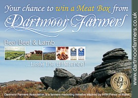 Dartmoor Farmers postcard promoting the meatbox scheme, designed by Graphic Words