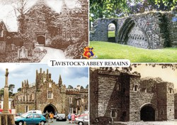 Tavistock's Abbey Remains postcard by Graphic Words