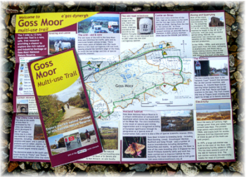 Goss Moor multiuse trail - introductory  leaflet with route map by Graphic Words