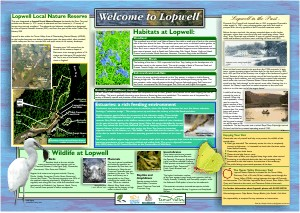 Lopwell welcome panel - interepreptation board by Graphic Words for South West Lakes Trust