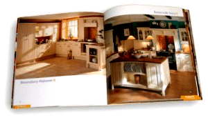 Catels Kitchens brochure - catalogue of kitchen ranges - inside spread