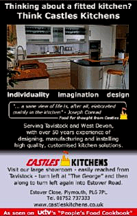 Advertisement for Castles Kitchens, designed by Graphic Words