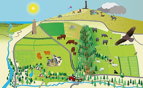 Deer Park Farm illustrated map, created by Graphic Words