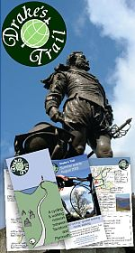 Drake's Trail information pack - trail  guide leafl;ets designed and printed by Graphic Words of Tavistock, West Devon