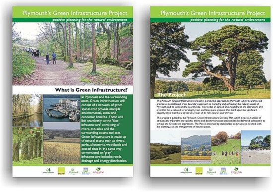 Display boards for the Plymouth's Green Infrastructure project by Graphic Words